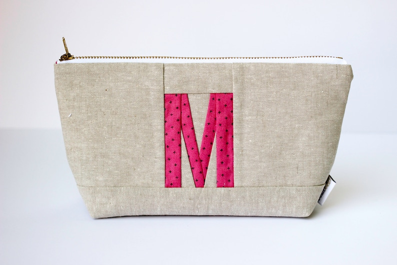 Personalized Zipper Pouch Monogram Pouch Initial Bag Personalized Makeup Bag Initial Makeup Pouch Monogram Gift For Women Custom Initial