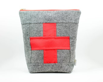 first aid pouch, car emergency kit, ouch pouch, first aid kit for cars, emergency pouch, travel first aid kit, medical bag, first aid bag