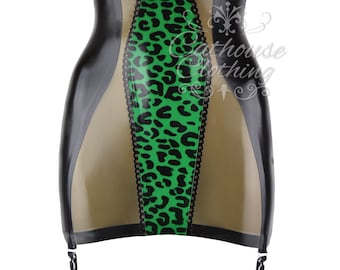 BabyLeopard latex rubber girdle by cathouse clothing WRUB1094