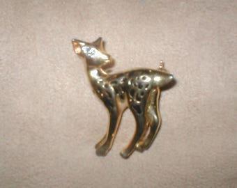 Vintage Deer PIn Brooch
