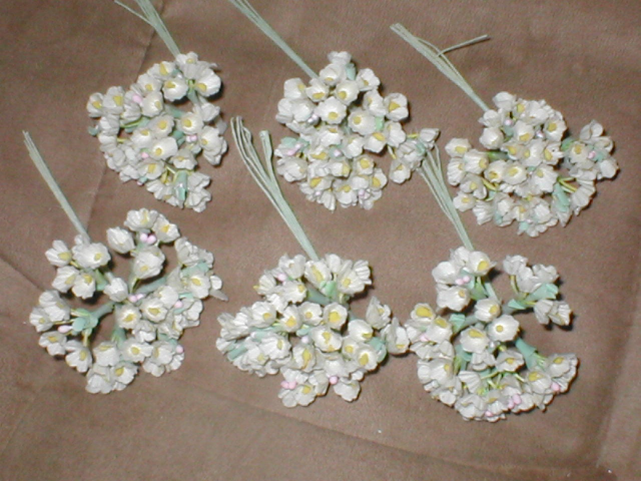 Vintage Ivory Silk Forget Me Not Flowers From Yesteryearglam On Etsy
