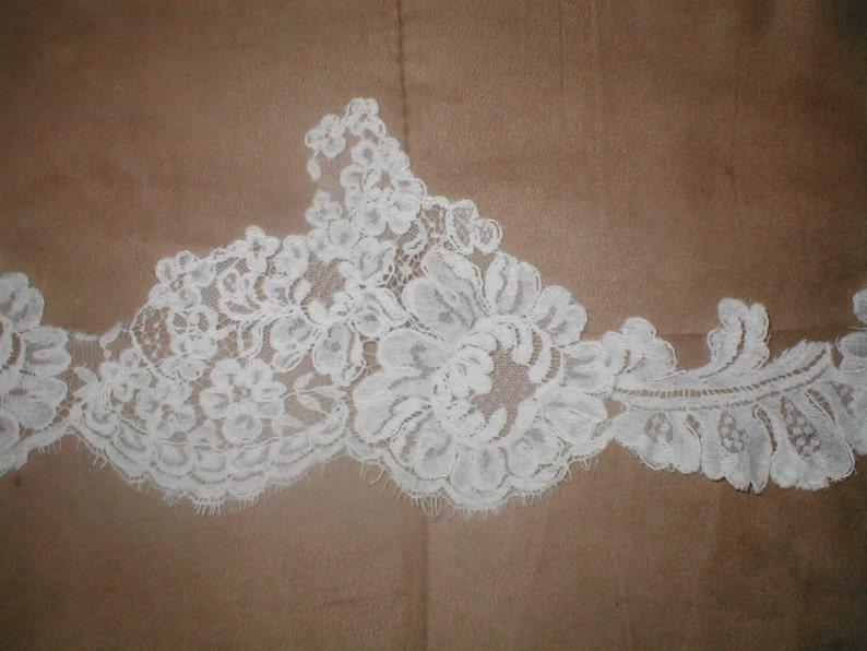 Vintage Ivory French Alencon Lace Border Trim