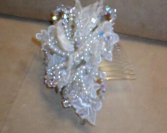 Bridal Headpiece Comb of Crystals
