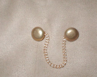 Vintage 1950's gold Sweater Guard Chain