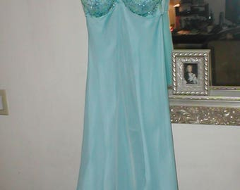 Vintage 1960's light blue Evening Gown Dress sz 4