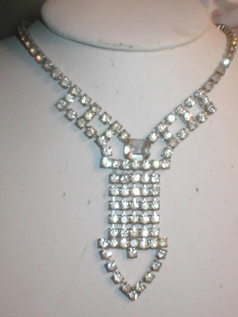 1950/'s Vintage Rhinestone Necklace
