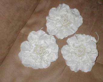 Lot of 3 Handmade Vintage Millinery Flowers