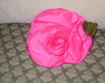 Vintage Millinery magenta Silk Rose Flower