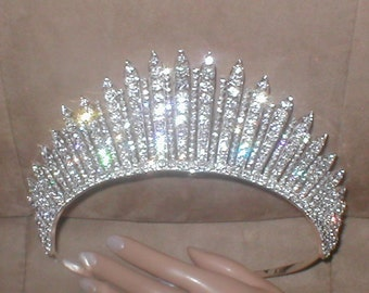 Magnificent Rhinestone Pageant Tiara Crown