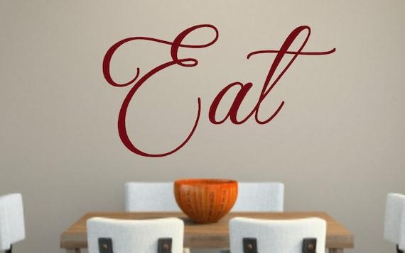 eat-kitchen vinyl wall decal eat vinyl wall decal kitchen | etsy