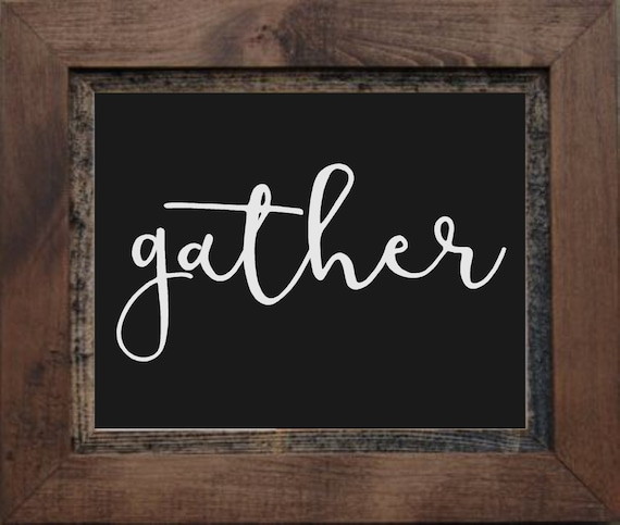 Gather Vinyl Wall Decal Dining Room Kitchen Family