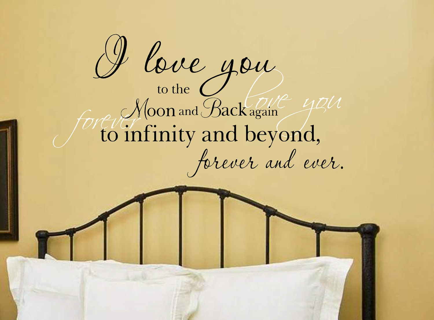 Unique I Love You To The Moon And Back Wall Decor Photo - The Wall ...