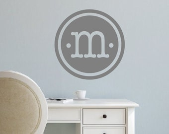 Monogram Wall Decal- Circle Monogram- Vinyl Lettering Decor Words for your wall  Quotes for the wall