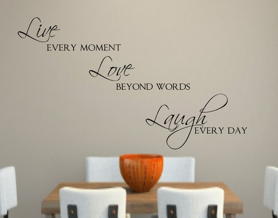 Live Love Laugh Vinyl Wall Decal Decor Lettering Words For The Etsy
