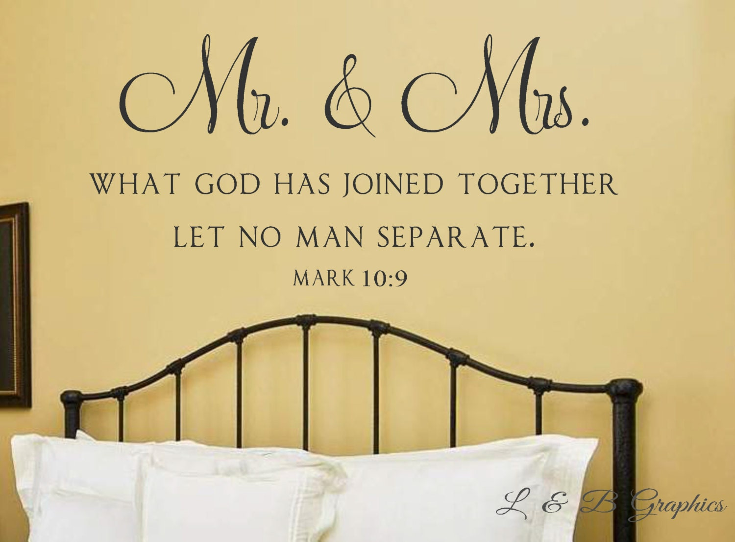 Mr. and Mrs. What God has joined together Mark 10 9 Vinyl | Etsy