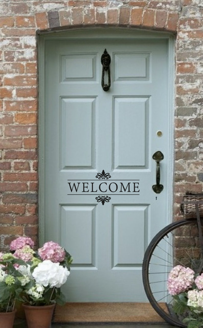 Welcome Vinyl Wall Decal  Front Door/Back Door Vinyl image 0