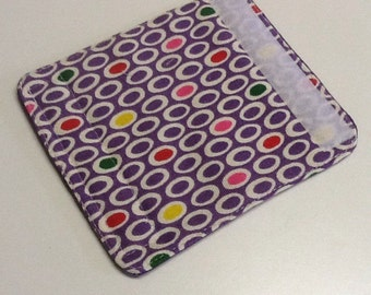 Purple And Multi-Colored Ovals Luggage Handle Wrap