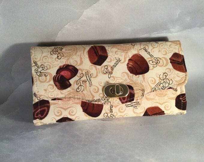 Zero Calorie Chocolate Candies Clutch Wallet With Wrist Strap