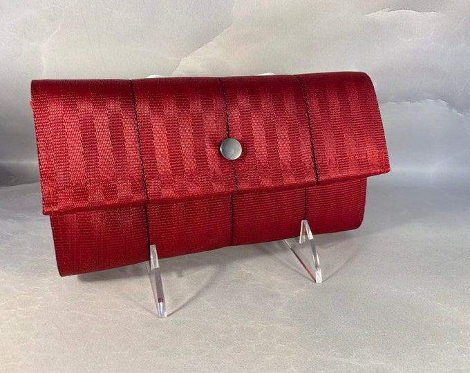 """The Brand New """"Bailey"""" Seat Belt Wallet In Deep Red from FiberTime!"""