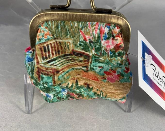 Monet's Garden Small Kiss Lock Change Purse