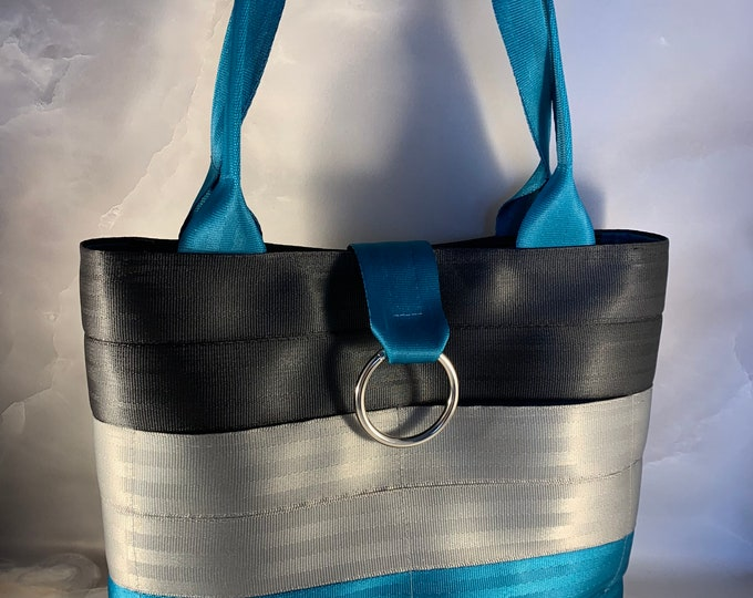 """The """"Sasha"""" Color Combination Handcrafted Seat Belt Bag/Tote"""