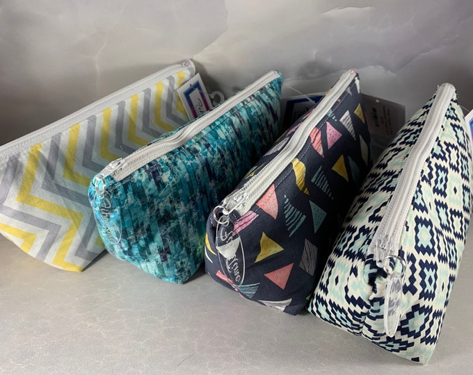 Geometric Style Handcrafted Triangle Pouch