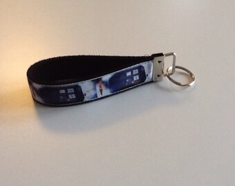 Dr Who Police Box Key Fob Wristlet