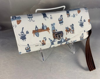 Knights In Shining Armor Handcrafted Clutch/Wallet With Wrist Strap