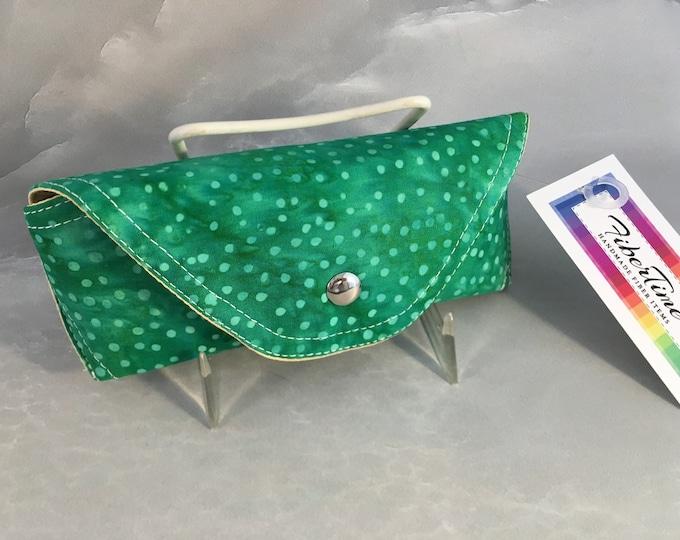 Green Batik Handmade Eyeglass/Sunglass Case