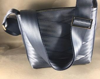 Steel Blue Roundabout Short Crossbody Seat Belt Bag