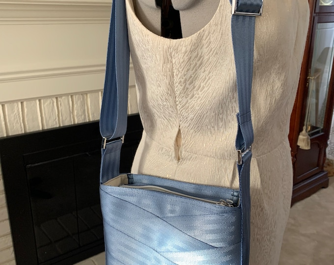 Steel Blue Roundabout Crossbody Seat Belt Bag