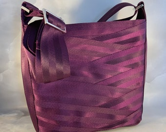 Limited Edition!  Merlot Crossbody Seat Belt Bag in Bordeaux...