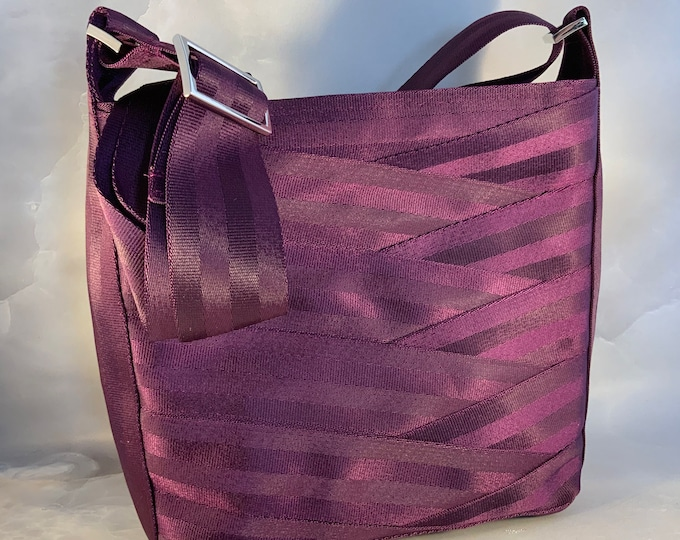 Limited Edition!  Tall Merlot Crossbody Seat Belt Bag in Bordeaux...