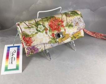 Handmade Stylized Multi+Color Floral Clutch/Wallet With Wrist Strap