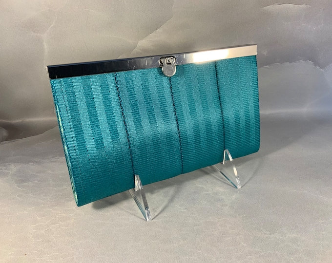 The Ashley Seat Belt Wallet In Teal