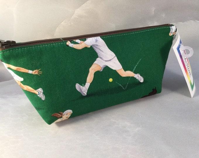 Tennis Greens Handmade  Make Up Bag