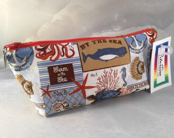 Sea Creatures Handmade Make Up Bag