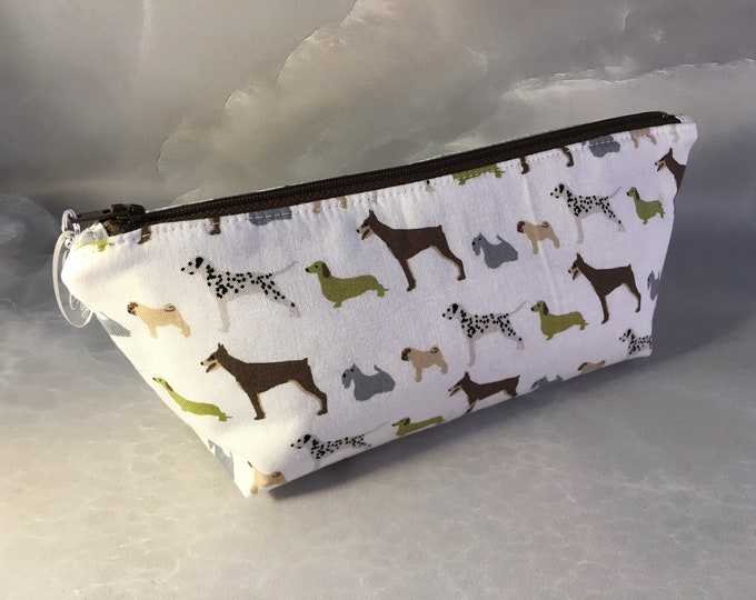 Dogs In A Row Handmade MakeUp Bag