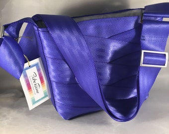 Limited Edition Short Periwinkle Roundabout Crossbody Seat Belt Bag