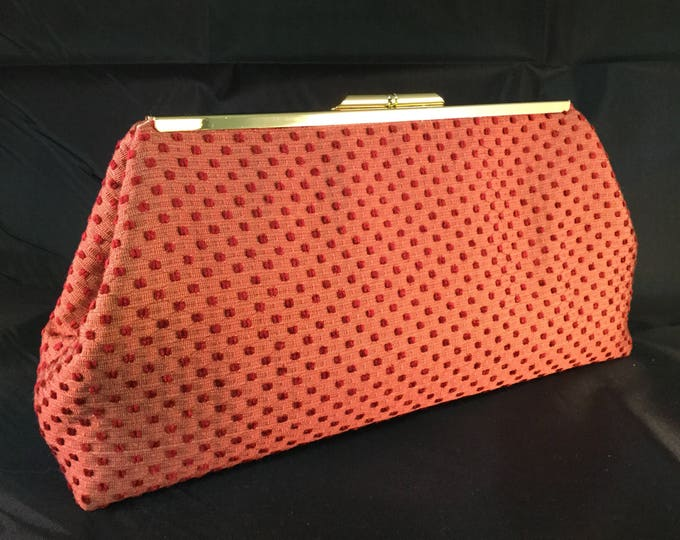 Red Dots Medium Clutch Bag