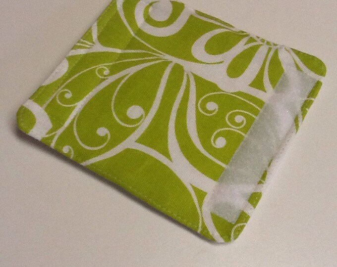 Lime Green And White Floral Luggage Handle Wrap