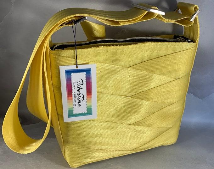 Sunshine Yellow Roundabout Crossbody Seat Belt Bag