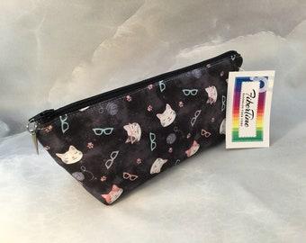 Cats on Gray MakeUp Bag