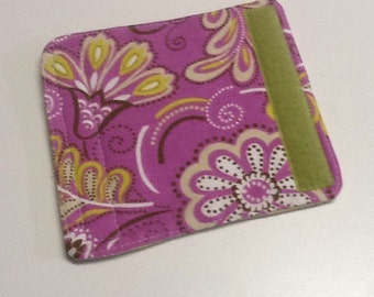 Purple, Green And White Floral Luggage Handle Wrap