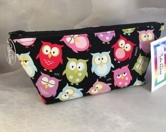 Bright Eyed Owls Handcrafted Make Up Bag