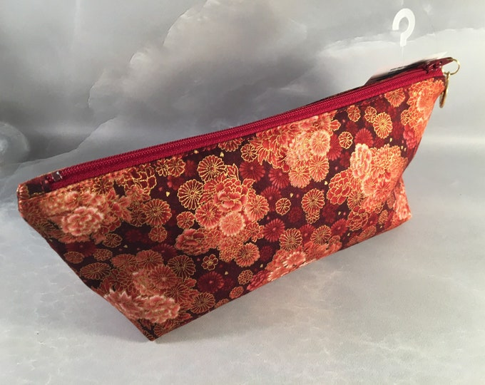 Red Gold Orientall Make Up Bag