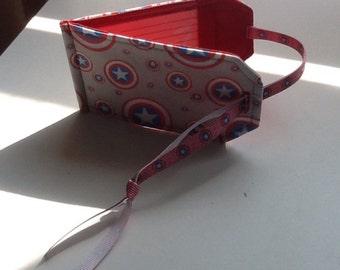 Handmade Captain America Style Luggage Tag