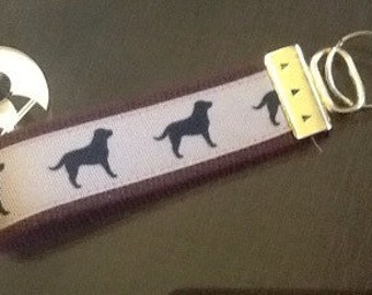 Dog Silhouette Key Fob