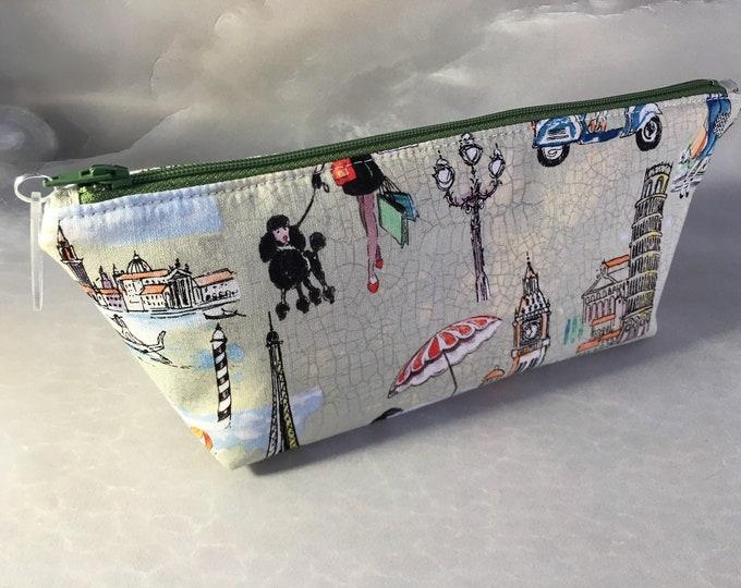 Cities of Europe Handmade MakeUp Bag