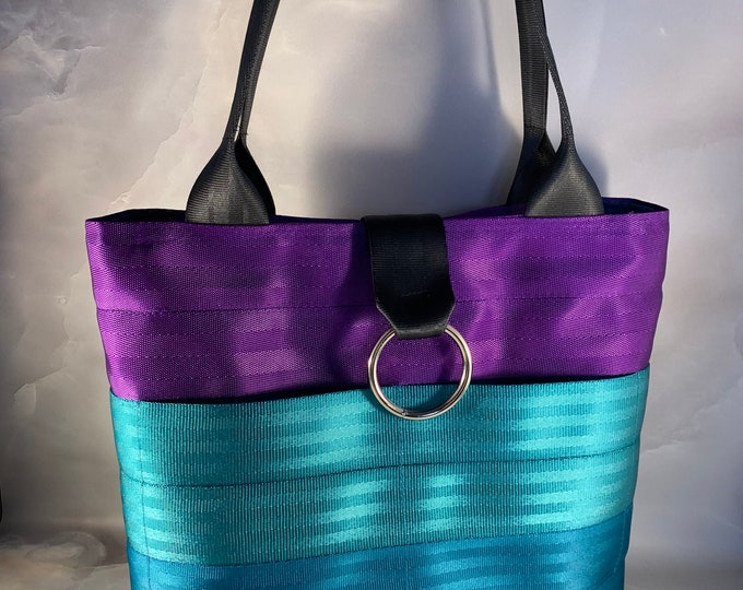 """The """"Tiffany"""" Color Combination Handcrafted Seat Belt Bag/Tote"""